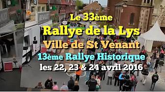 Présentation du 33ème Rallye de la Lys ville de Saint-Venant