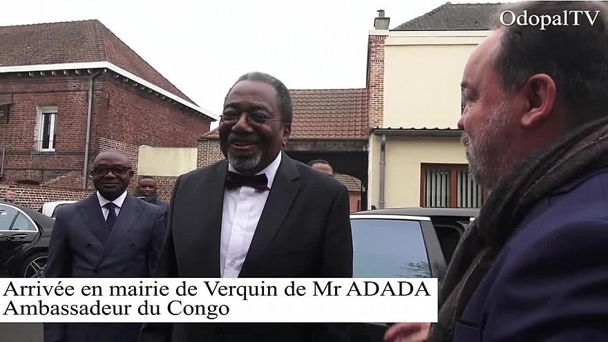 L'ambassadeur de la République du Congo en République française, Rodolphe Adada a visité cet espace de terrain offert par la commune de Verquin dans le département du Pas-de-Calais dans le nord de la France